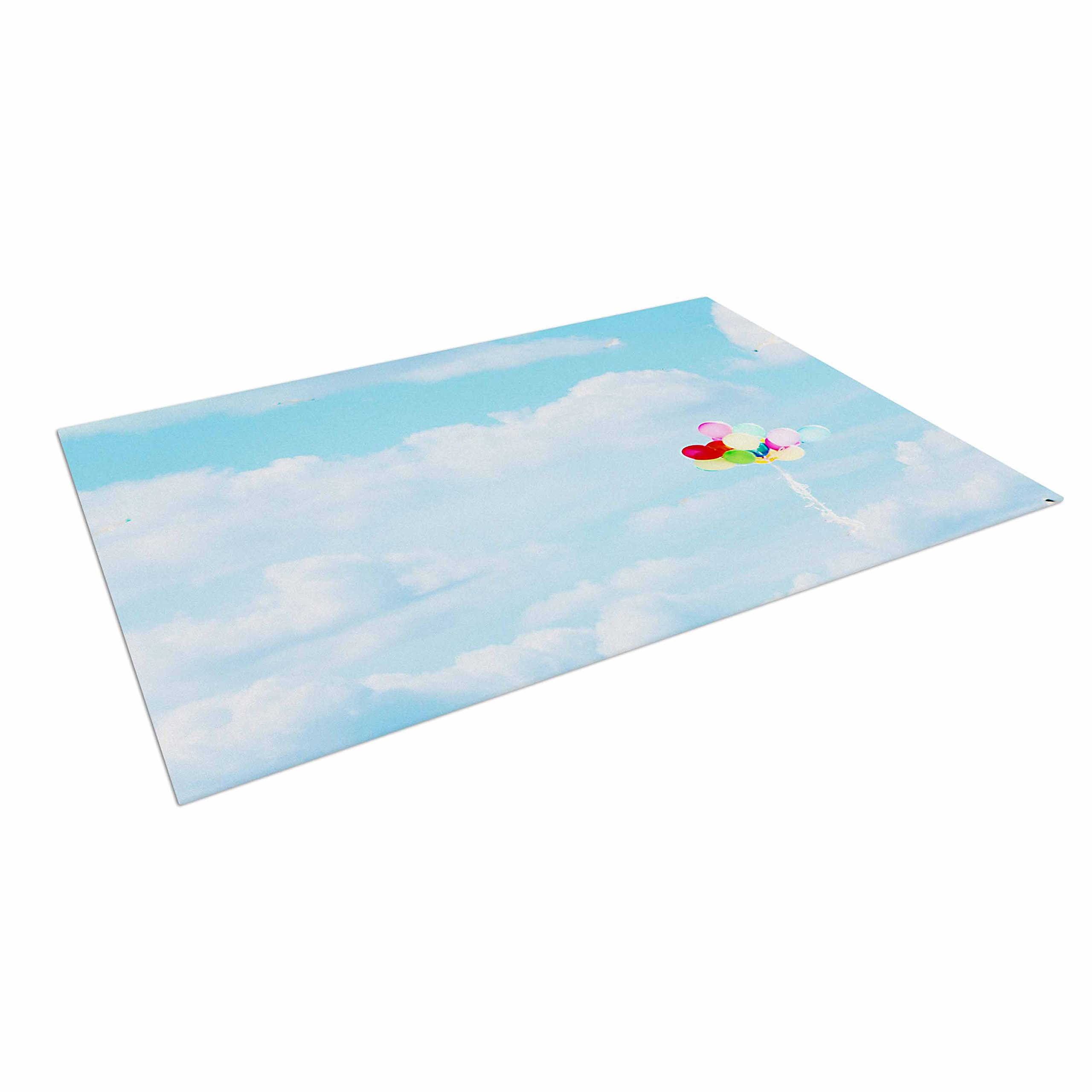 KESS InHouse Sylvia Coomes ''Balloons in The Sky'' Photography Kids Outdoor Floor Mat, 4' x 5'