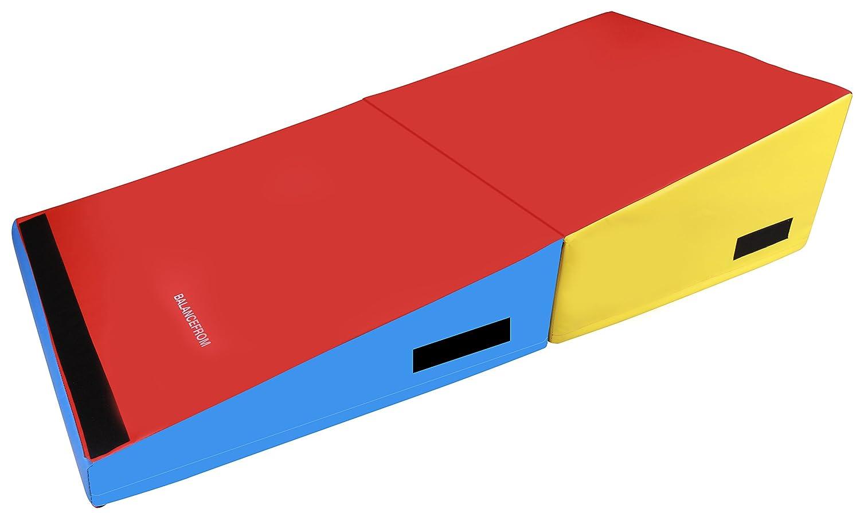 BalanceFrom gogym Folding Incline体操チーズマットトレーニングFoam Triangleジムランプタンブルウェッジ B071K2W799  72×36×16インチ(大)