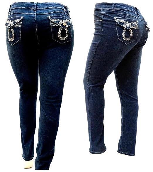 5410591f2ac IVE DARK BLUE WOMEN S PLUS SIZE denim jeans SKINNY LEG FV-51202MS SIZE 14-