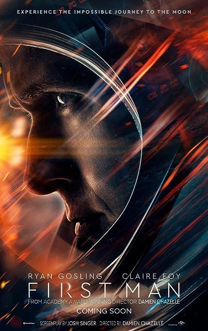 Amazon.com : FIRST MAN MOVIE POSTER 2 Sided ORIGINAL Advance 27x40 ...