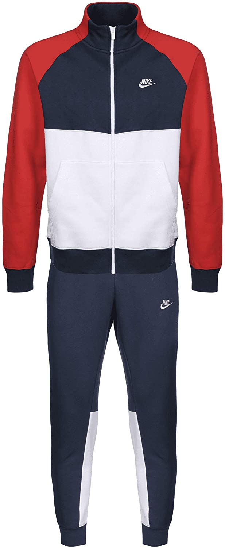 Nike Track Fleece Tracksuit - Chándal Azul Marino, Blanco L ...