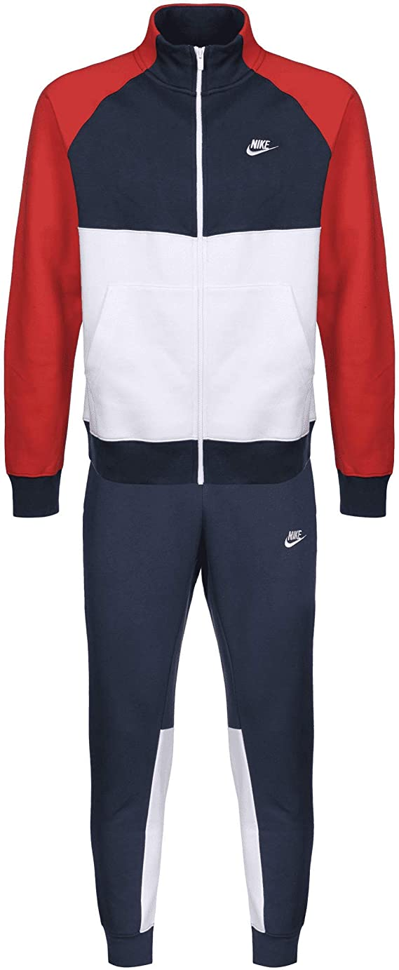 Nike Track Fleece Tracksuit - Chándal Azul Marino, Blanco L: Amazon.es: Ropa y accesorios