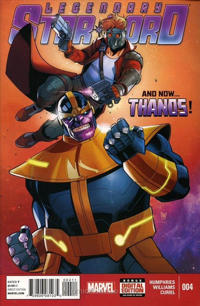 VF//NM Legendary Star Lord #4 RI 1:15 Variant Marvel, 2014