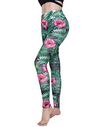 13ee40a56b6da Women's Floral Yoga Leggings Gym Fitness Running Pilates Tights Skinny  Pants 3D Printing: Amazon.co.uk: Clothing