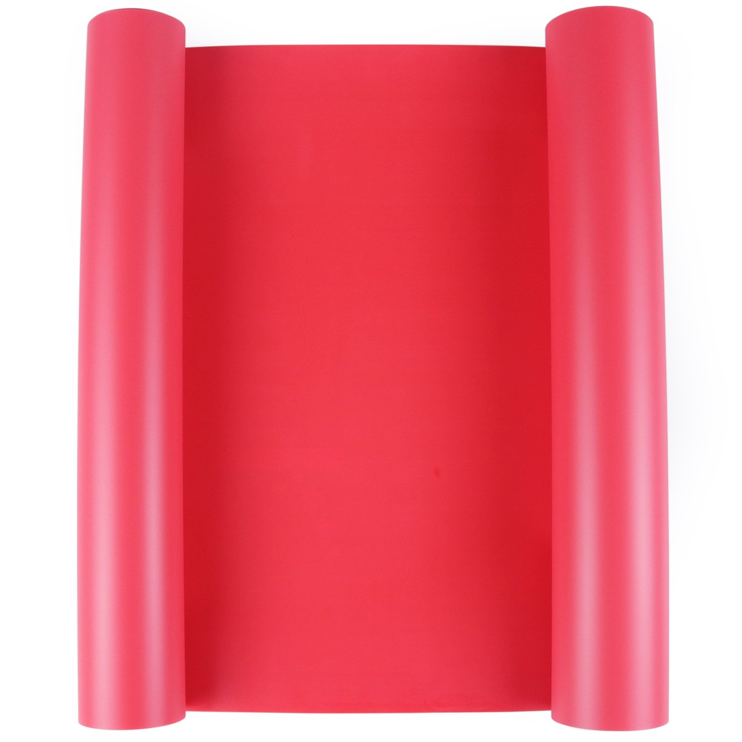 Heat Transfer Vinyl HTV for T-Shirts 12 Inches by 15 Feet Rolls Red