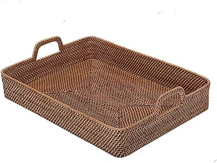 "Rattan Small Oval Tray 10 x 8 x 1.75/"""