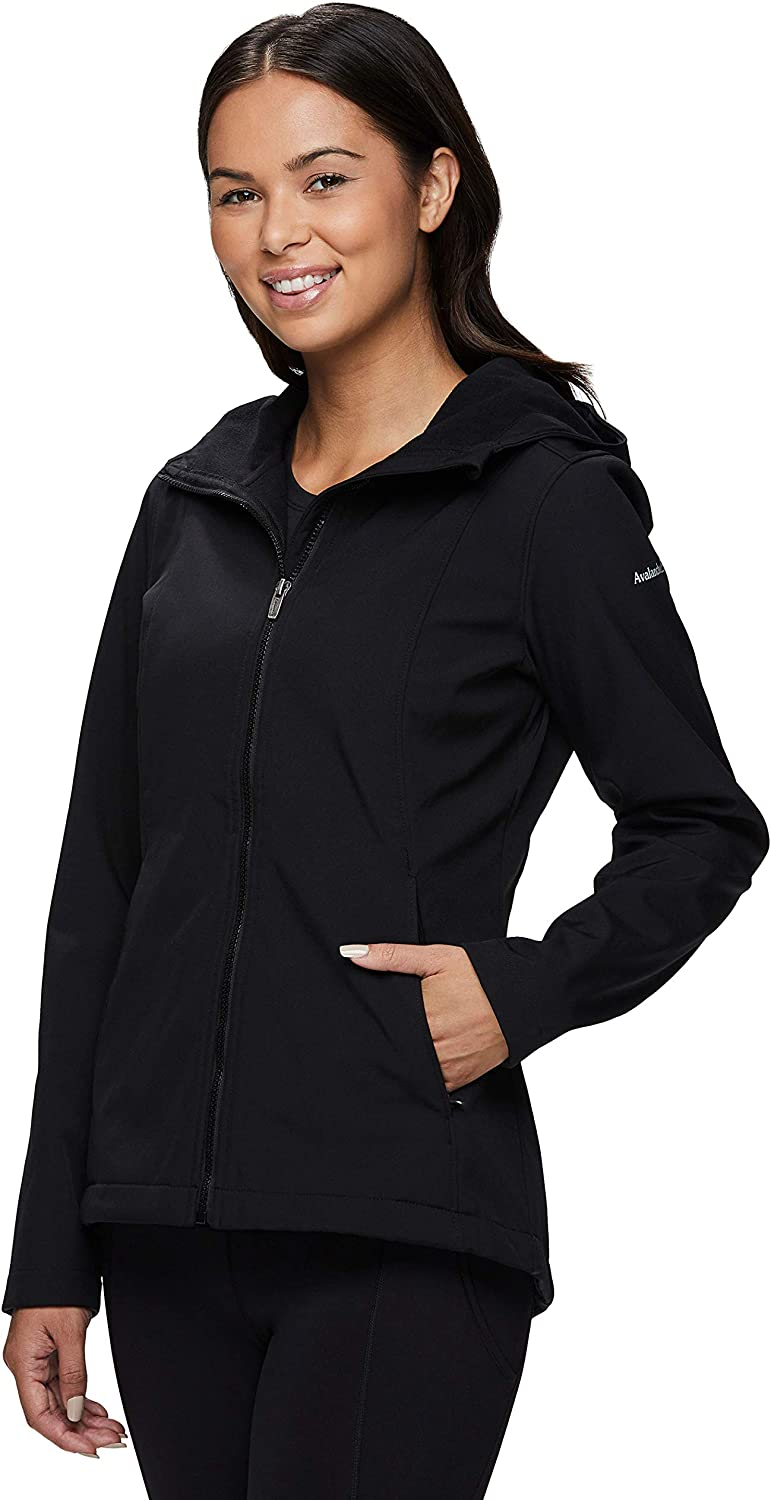 Avalanche Womens Midweight Mid Length Soft Shell Fleece Lined Jacket With Hood
