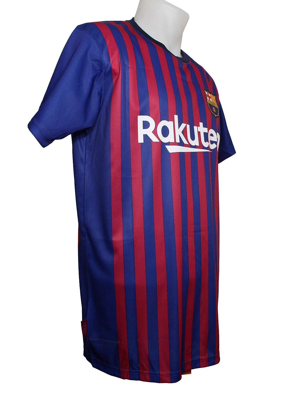 Barcelona Camiseta Réplica Adulto Primera Equipación 2018/2019 - Dorsal Liso - Producto Bajo Licencia: Amazon.es: Deportes y aire libre