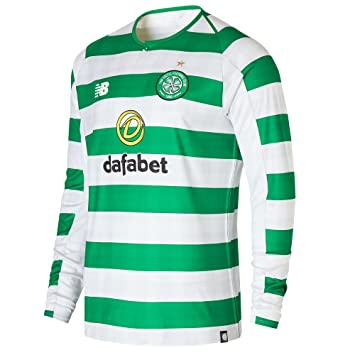 f03f962894e New Balance Celtic FC Men's Home Long Sleeve Replica T-Shirt 2018-19 ...
