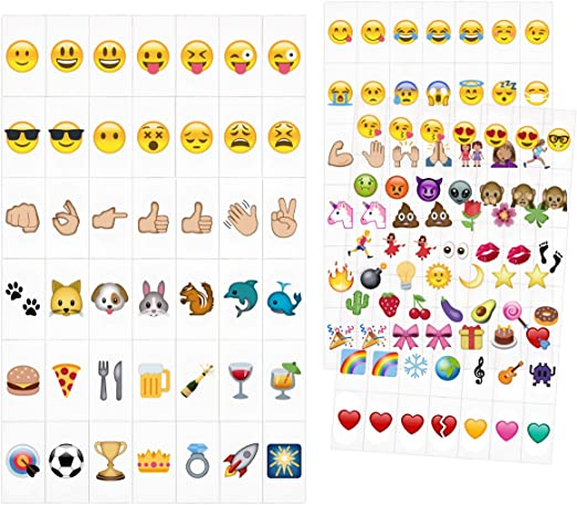 15cm 32 designs available Emoji Round Card Sign