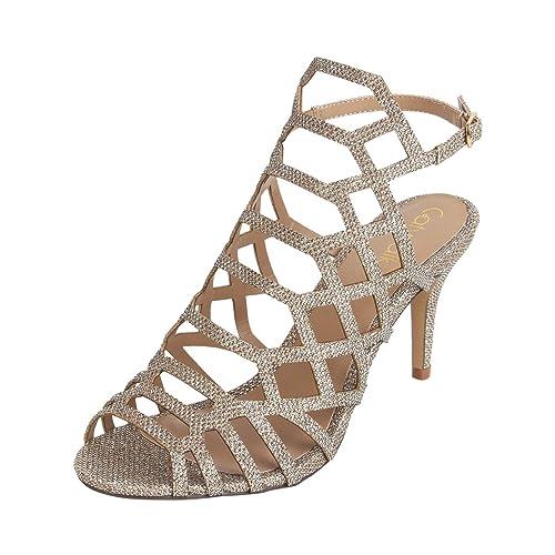 49e5f487d192 Catwalk Women s Bronze Stiletto Sandals Fashion 4 UK India (36 EU)(3629BX
