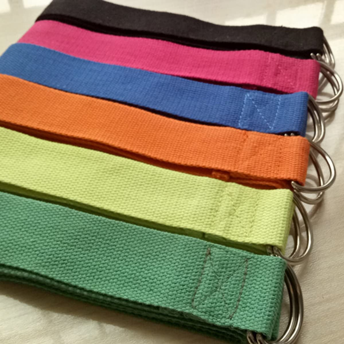 WINOMO Yoga Fitness Strap D Ring Yoga /Übung Strap f/ür Stretching Flexibilit/ät Physikalische Therapie