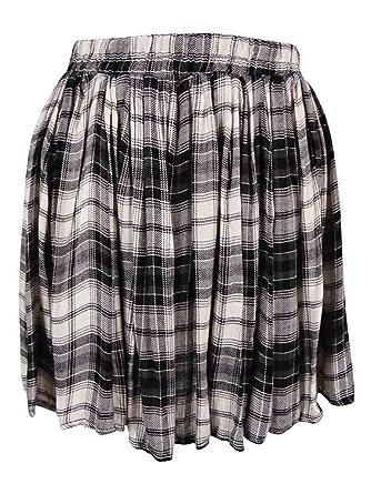 Falda Flippy de cuadros escoceses de mujer (M): Amazon.es: Ropa y ...