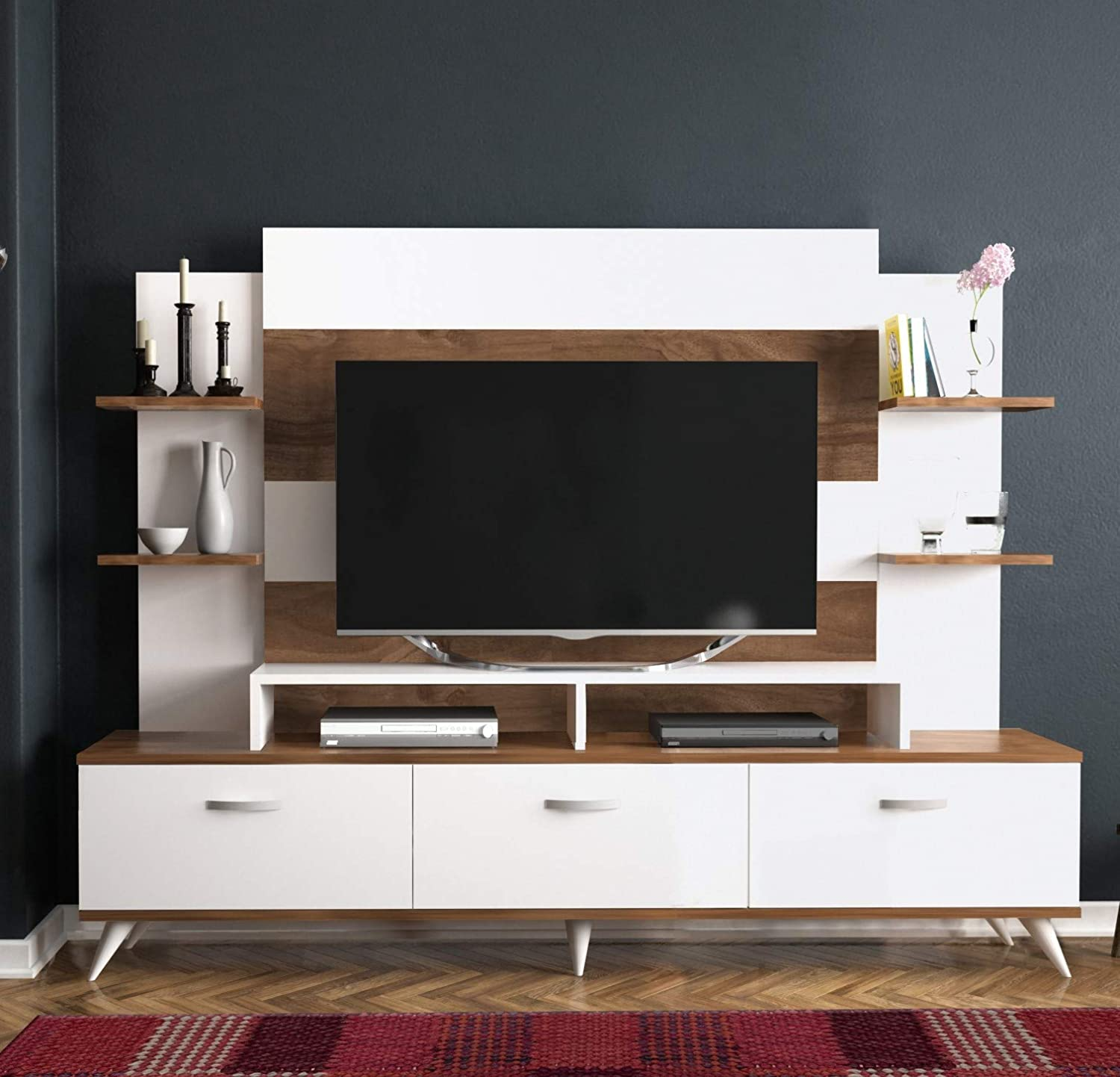 Amazon com decorotika diana tv stand and entertainment center living room furniture kitchen dining