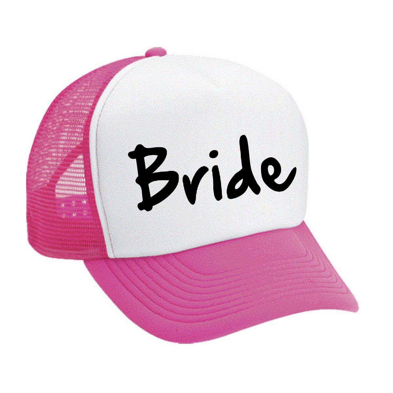Allntrends Snapback White Pink Hat Bride