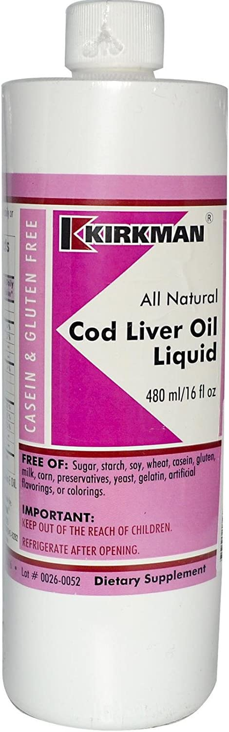 Kirkman Labs, Cod Liver Oil Liquid, Unflavored, 16 fl oz 480 ml