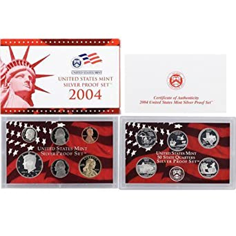 U.S MINT SILVER PROOF SET 2004 IN ORIGINAL BOX WITH FREE SHIPPING!!!