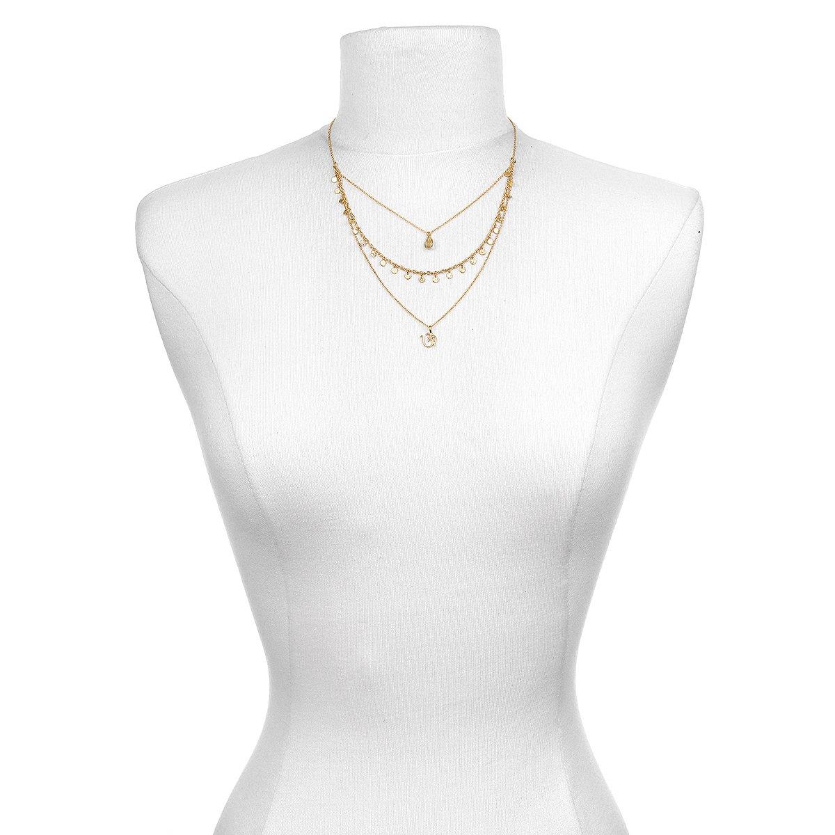 Satya Jewelry Citrine Gold Plate Om Triple Chain Necklace, 20'' by Satya Jewelry (Image #3)