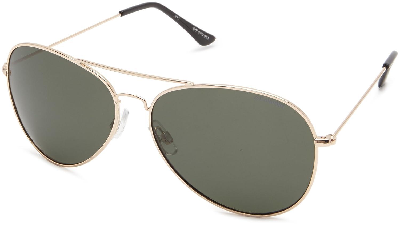 54ecdd6110 Amazon.com  Polaroid Sunglasses 04214S Polarized Aviator Sunglasses ...