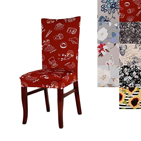 Chair Covers Super Fit Universal Stretch Dining Cover Removable Washable Slipcovers For Room