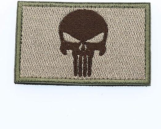 Cobra Tactical Solutions Punisher Castigador Skull Parche Bordado Táctico Moral Militar con Cinta adherente de Airsoft Paintball para Ropa de Mochila táctica: Amazon.es: Hogar