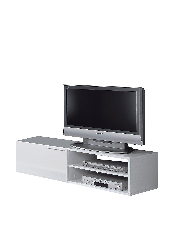 Generic Kikua Tv Stand 130cm White Gloss Colour White Amazon  # Kikua Meuble Tv