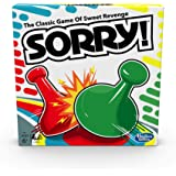 Sorry! Board Game for Kids Ages 6 and Up; Classic Hasbro Board Game; Each Player Gets 4 Pawns; Family Game