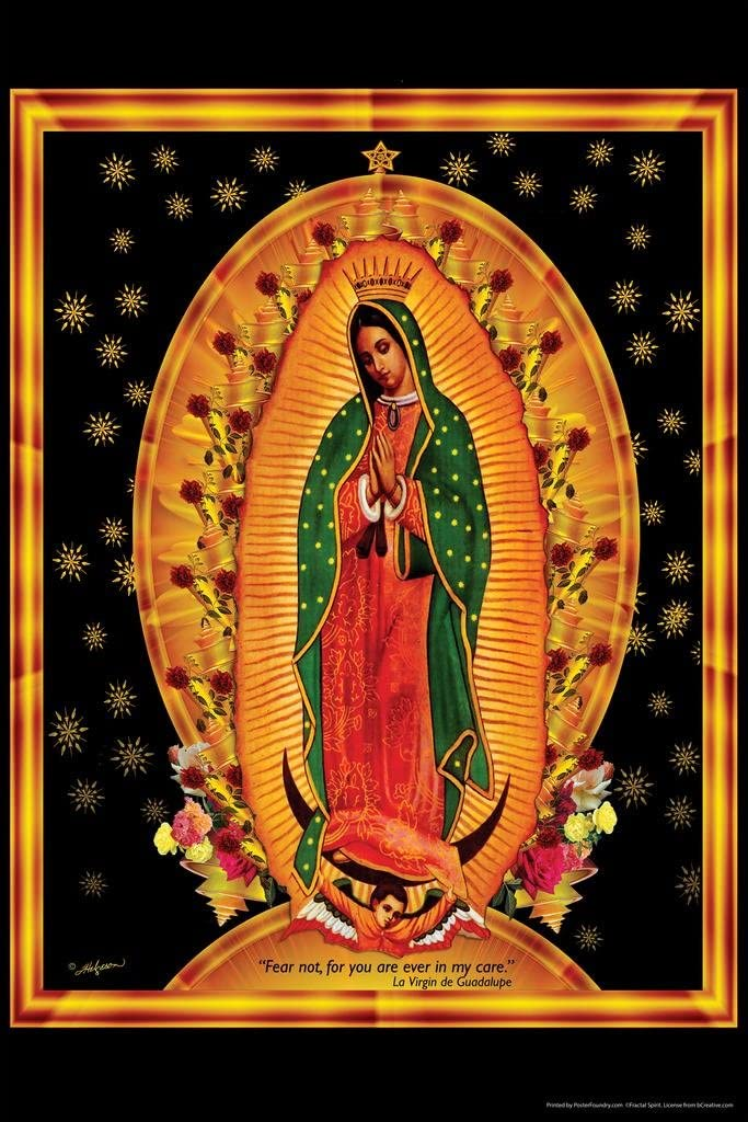 Our Lady of Guadalupe Famous Motivational Inspirational Quote Religious Art Cool Wall Decor Art Print Poster 24x36