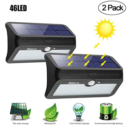 Solar lights outdoor arilux 46 led motion sensor wall light solar lights outdoor arilux 46 led motion sensor wall light weatherproof wireless security lighting night light aloadofball Image collections