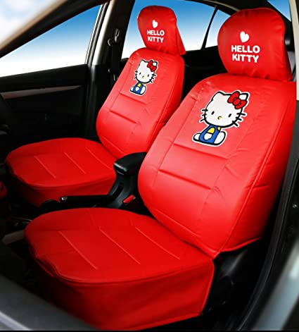 Hello Kitty Car Seat Covers Premium PVC Edition Pair Red