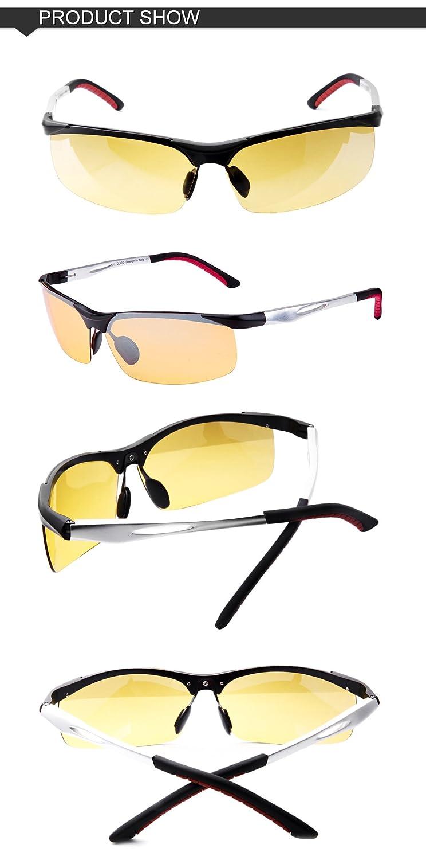 2b94c66e62f3 Duco Yellow Night-vision Glasses Anti-glare Driving Eyewear Polarized HD  Night Driving Sunglasses larger image