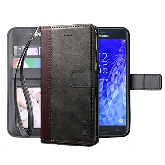 online store 3df87 202f6 Galaxy J7 2018 Case,J7 Aero/J7 Top/J7 Refine/J7 Eon/J7 Star/J7 Crown/J7  Aura Flip Case,RUIHUI Leather Wallet Folding Flip Protective Cover Case for  ...