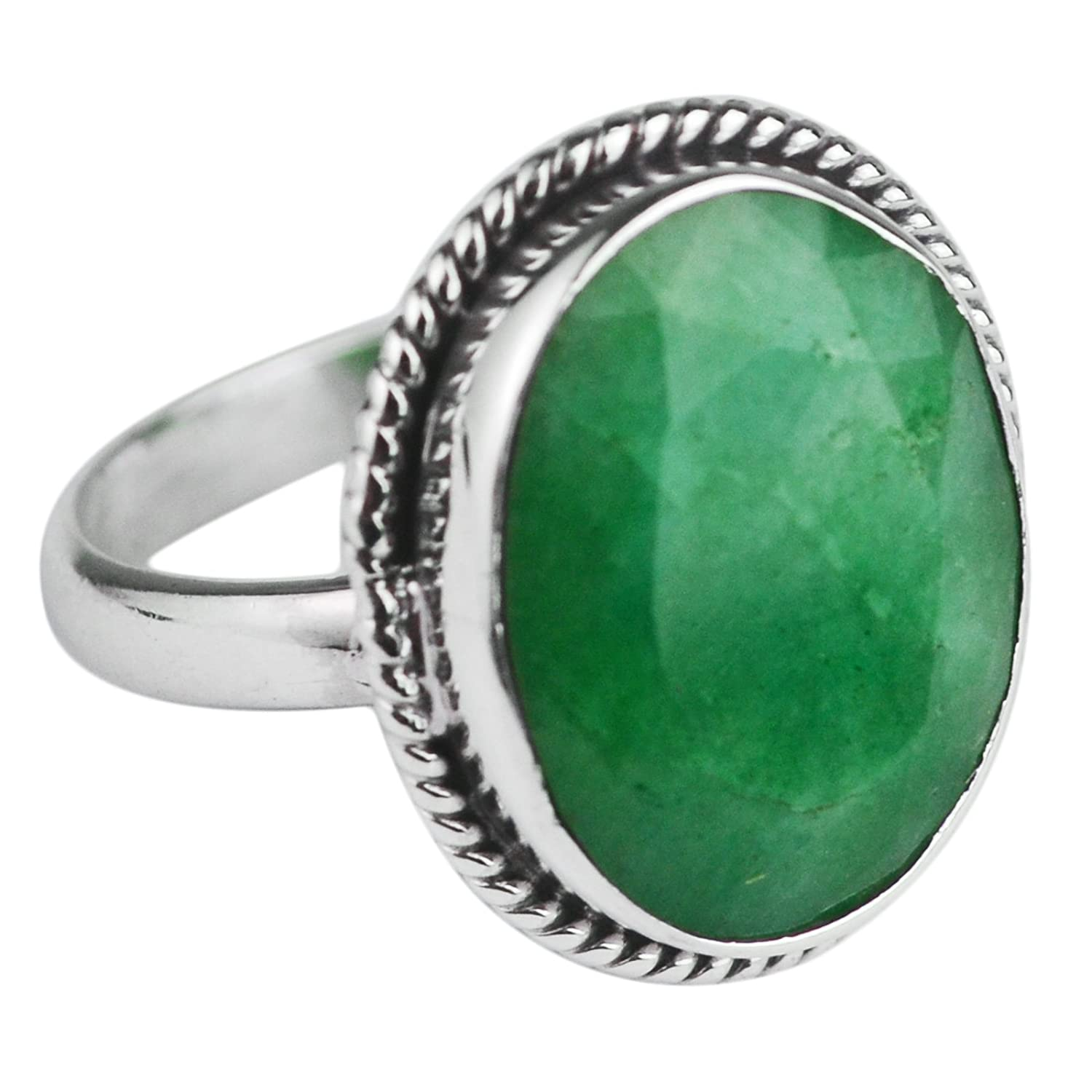 GORGEOUS 5ct Oval Cut Emerald Ring  Sterling Silver Ring Sizing 4 5 6 7 8 9 Trending Jewelry Gifts May Mom Wife Sister Deep Woven Crown Lab
