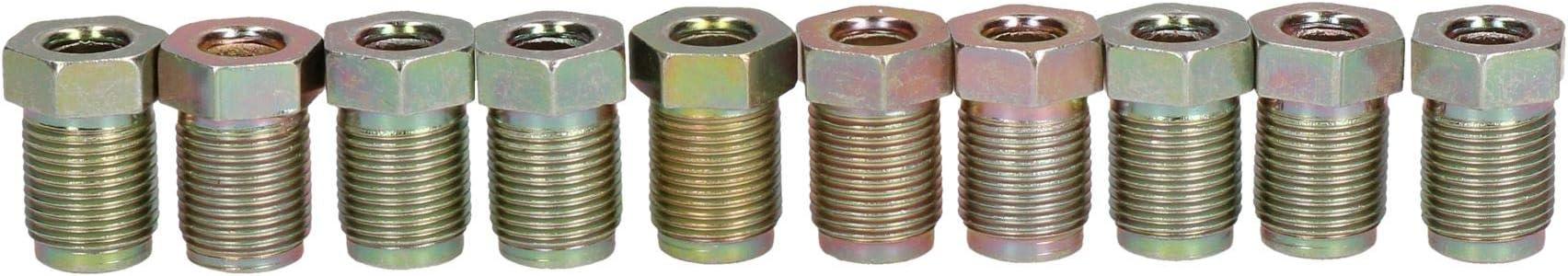 AB Tools-Bond 12mm x 1mm Macho de Acero Racores de uni/ón a 1//4 o 6 mm Tubo de Freno 10PC