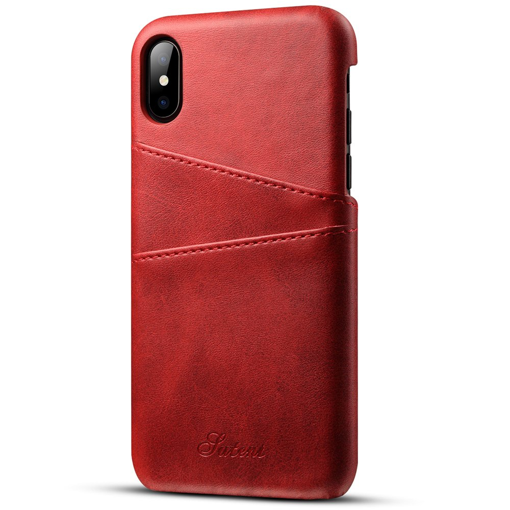 INFLATION Leather iPhone X case Wallet flip Cover case