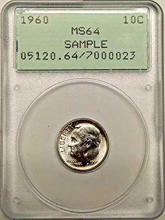 1960 Roosevelt Dime Sample Dime MS-64 PCGS at Amazon's Collectible