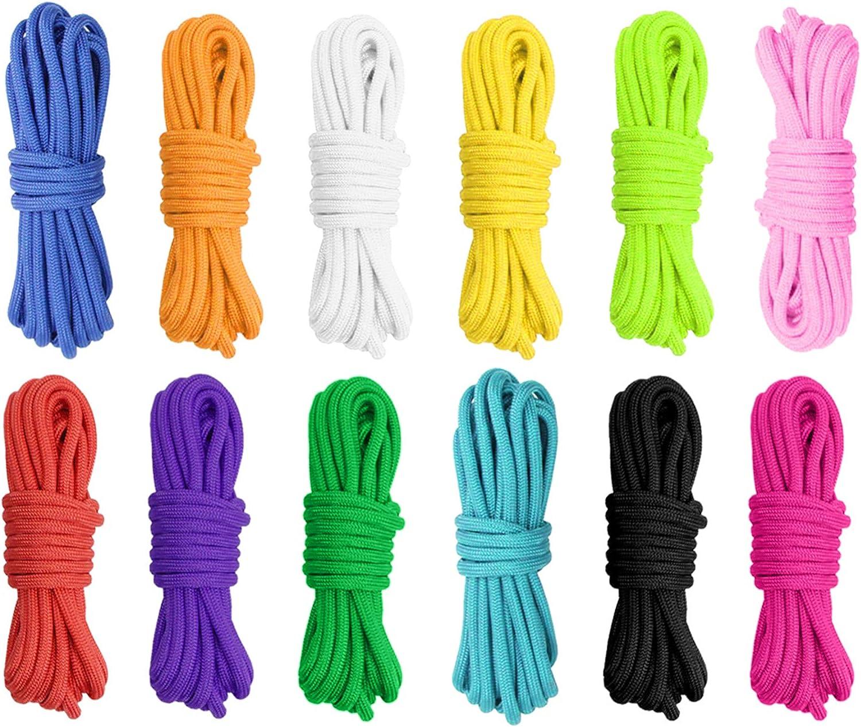 Sanchi 12 Colores Paracord Cord 550 Paracord Ropes Bracelet, 10 Pies para Pulseras De Bricolaje, Llaveros, Correas para Perros, Correas, Carpas Y ...