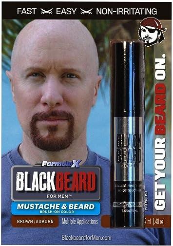 Blackbeard for MenBlackbeard for Men Formula X – Color de barba y bigote de cepillado instantáneo – Paquete de 3, 3 Paquete, Marrón/Auburn, 3 uds. por ...