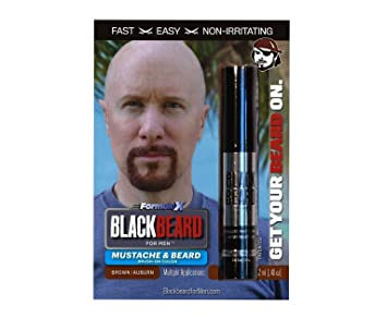 Amazon.com : Blackbeard for Men - Instant Brush-on Beard & Mustache ...