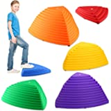 IROO Balance Stepping Stones Set for Kids Play Indoor and Outdoor, Non-Slip Colorful Stones Toys for Coordination and Gross M