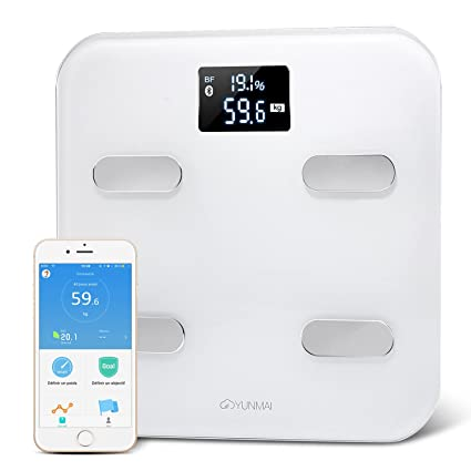 Yunmai - Báscula inteligente e inalámbrica con conexión WiFi , Bluetooth y sistema de sincronización con