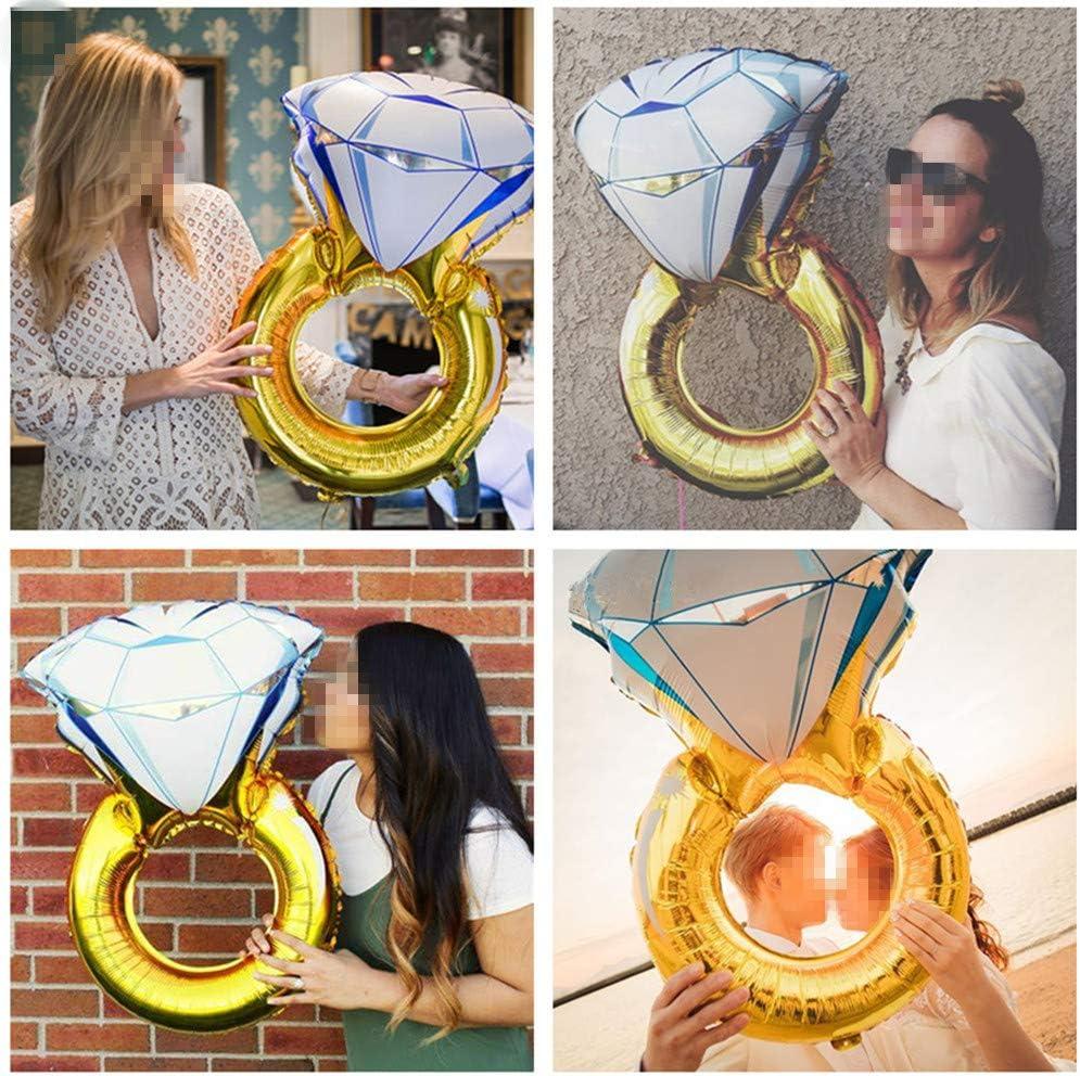 Ximkee Jumbo I do Helium Diamond Ring Balloons Wedding Birthday Party Deco-43X 1pcs