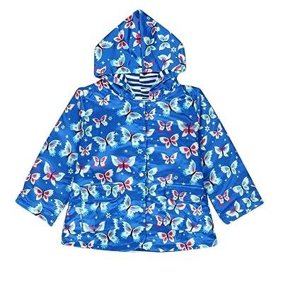 iumei Baby Boys' Girls' Butterfly Patterned Button Down Outwear Hoody Jacket Wind Coat