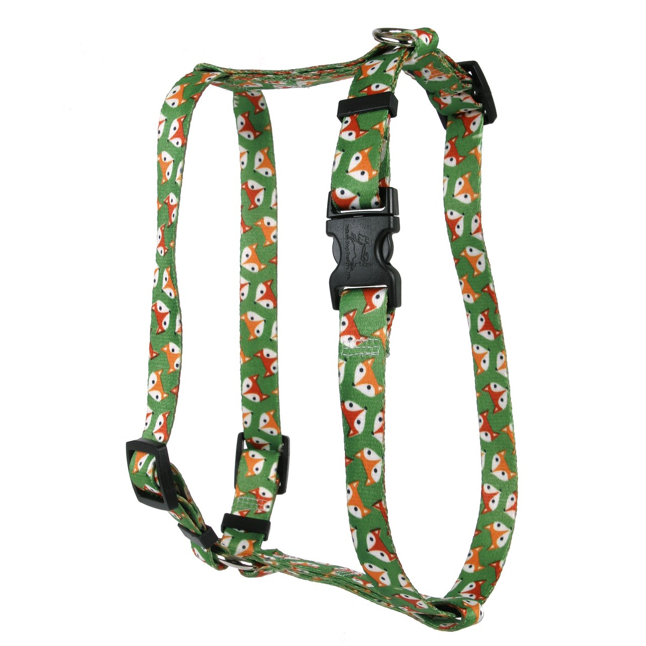 Yellow Dog Design Foxy Roman Style H Dog Harness 1'' Wide and Fits Chest Circumference of 20 to 28'', Large