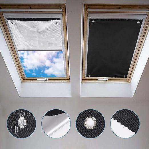 Johgee Store Occultant Sans Perçage Pour Velux Ggl F06 Et 206 48 X 93 Cm Rideau Occultant Thermiques Avec Ventouse Protection Solaire Store Pour