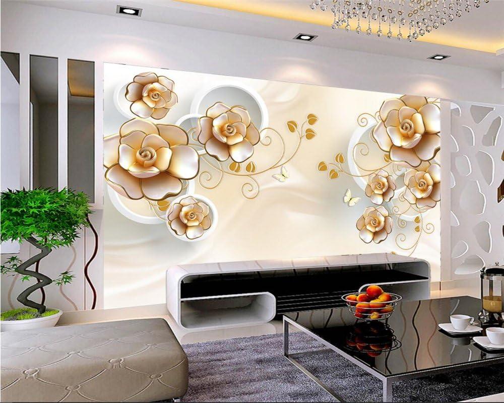 Lwcx Modern Romantic Floral Rose Photo Wall Mural 3d Wallpaper