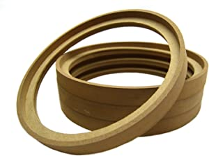 """Audiopipe 2 Pair 10"""" RING-10BZ MDF Speaker Ring Recess with Bezel Mounting Spacer Recessed"""