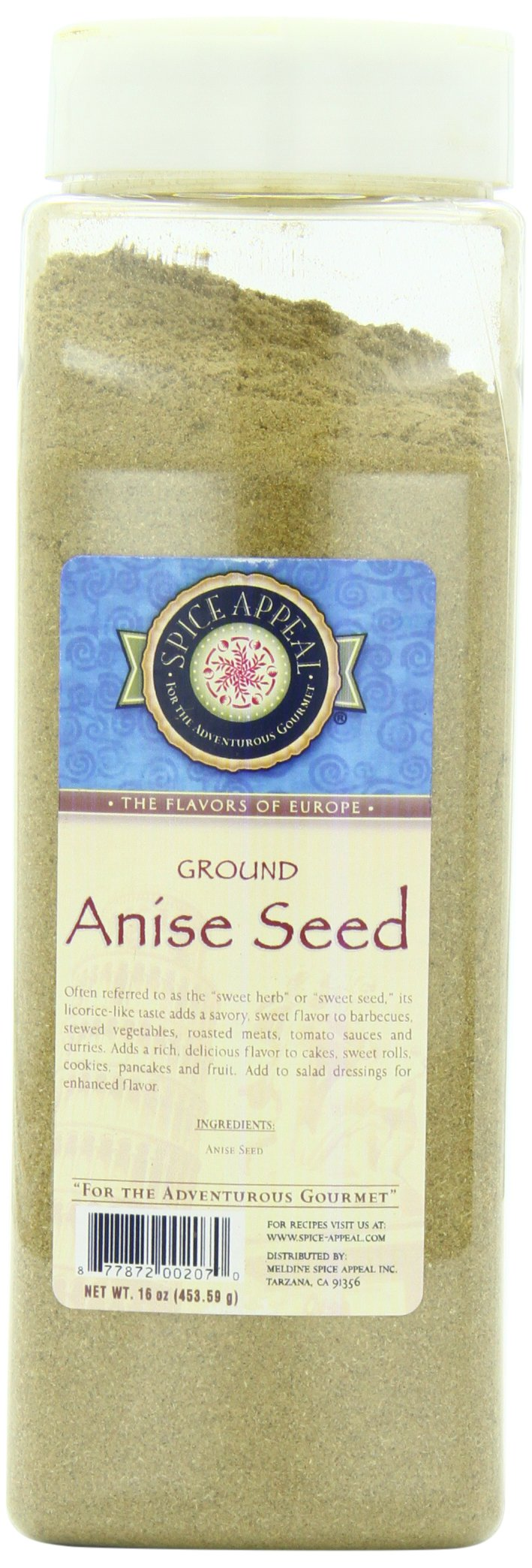 Spice Appeal Anise Seed Ground, 16 Ounce