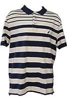 Nautica Men's Striped Polo Shirt Size Large