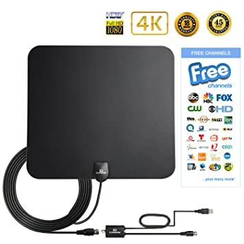 Digital Antenna TV Antenna Indoor 50 Mile 1080P HD Antenna Indoor High Perform TV Antenna Amplifier